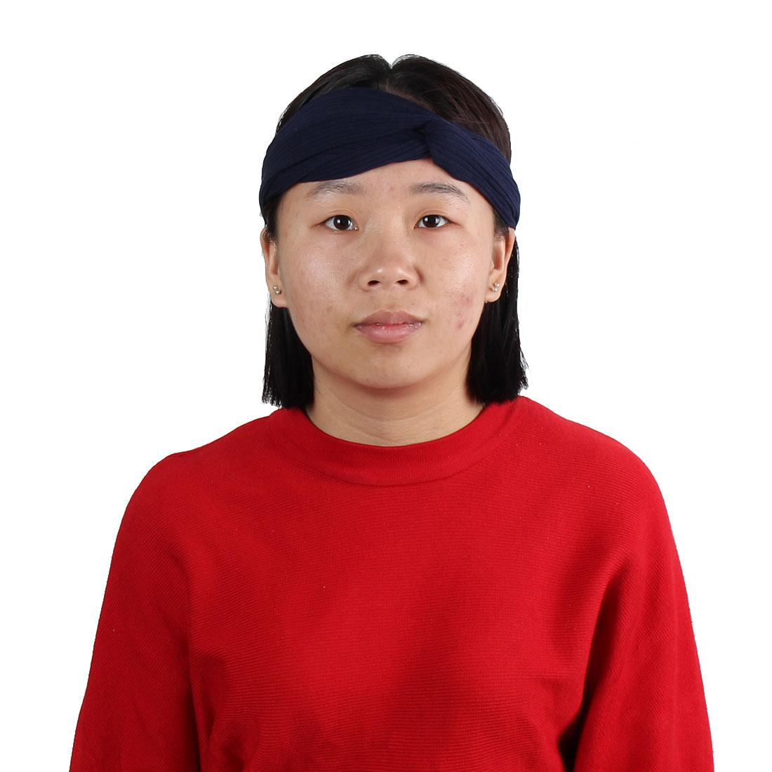 Running Yoga Sports Fabric Elastic Twist Knotted Hairband Headband