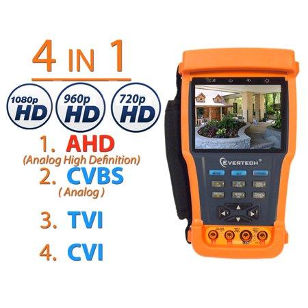 Camera Meter - Evertech CCTV Tester Pro 4in1 TVI / AHD / CVI & Analog (CVBS)  3.5