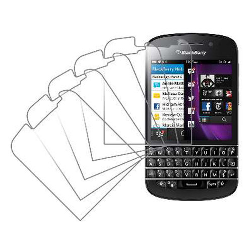 BlackBerry Q10, Screen Protectors, 5-Pack, Clear
