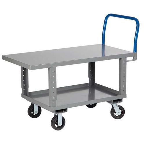 LITTLE GIANT RNL2-2448-6MR-AH Two Shlf Rsed Pltfrm Trck,49.5x24x35.5in
