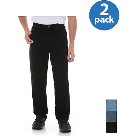 Wrangler Mens Relaxed Fit Jeans 2-Pack