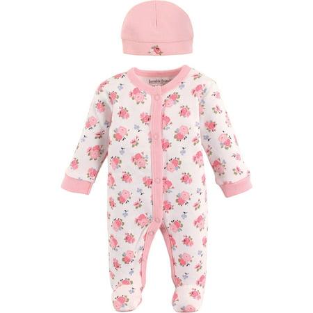 Newborn Preemie Sleep N Play & Cap Layette Set, 2pc (Baby