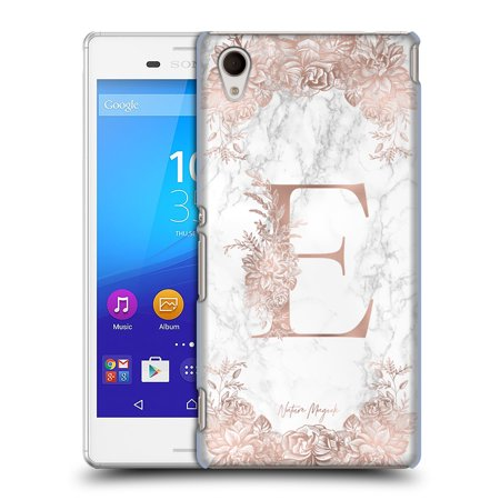 OFFICIAL NATURE MAGICK ROSE GOLD MARBLE MONOGRAM HARD BACK CASE FOR SONY  PHONES 2
