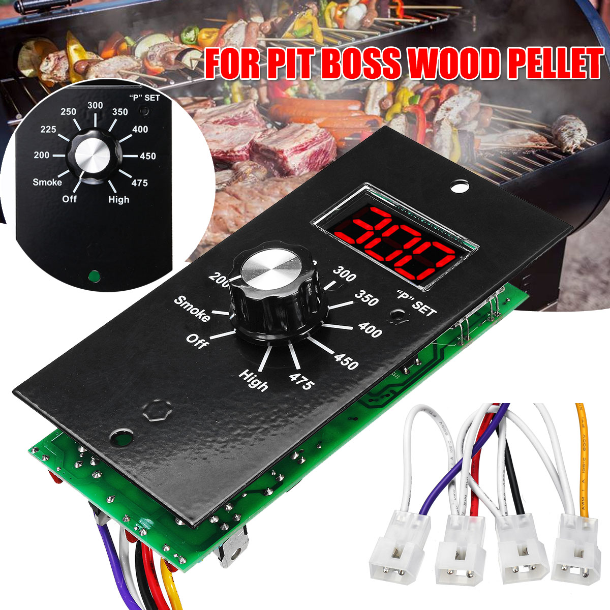120V Black Metal Thermostat Control Board For Pit Boss ...