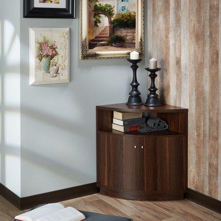 Furniture of America Tuarice Modern Corner Buffet/Table, Multiple Colors
