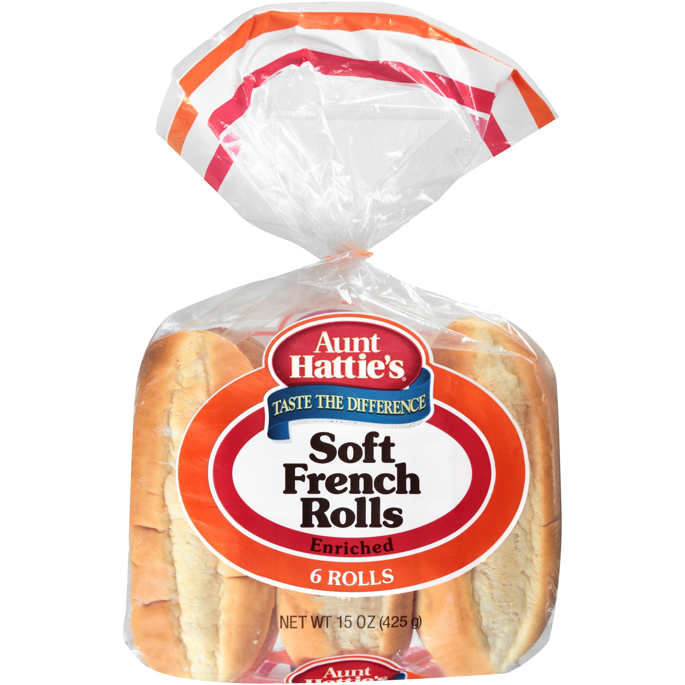 Aunt Hattie's® Enriched Soft French Rolls 6 ct Bag