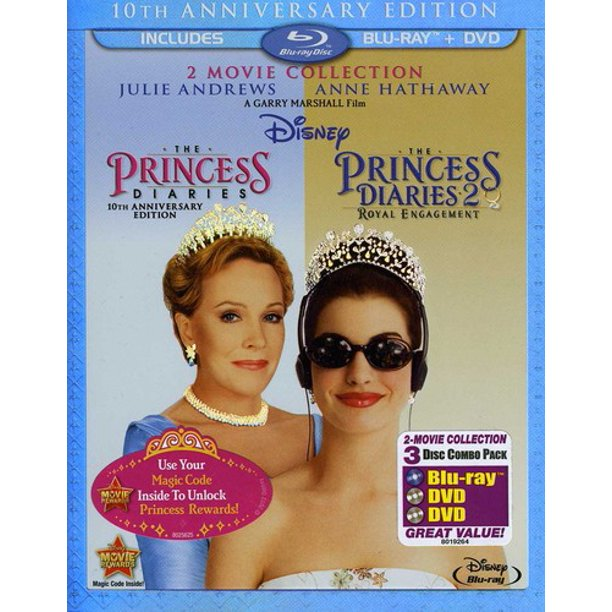 The Princess Diaries: 10th Anniversary Edition 2-Movie Collection (Blu-ray + DVD)
