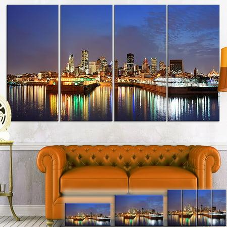 Design Art Designart Montreal Over River Panorama Cityscape Photo Canvas Print Small