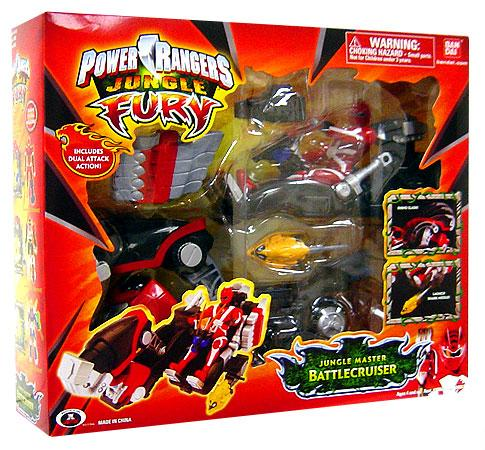 Power Rangers Jungle Fury Jungle Master Battlecruiser - Red Jungle Fury