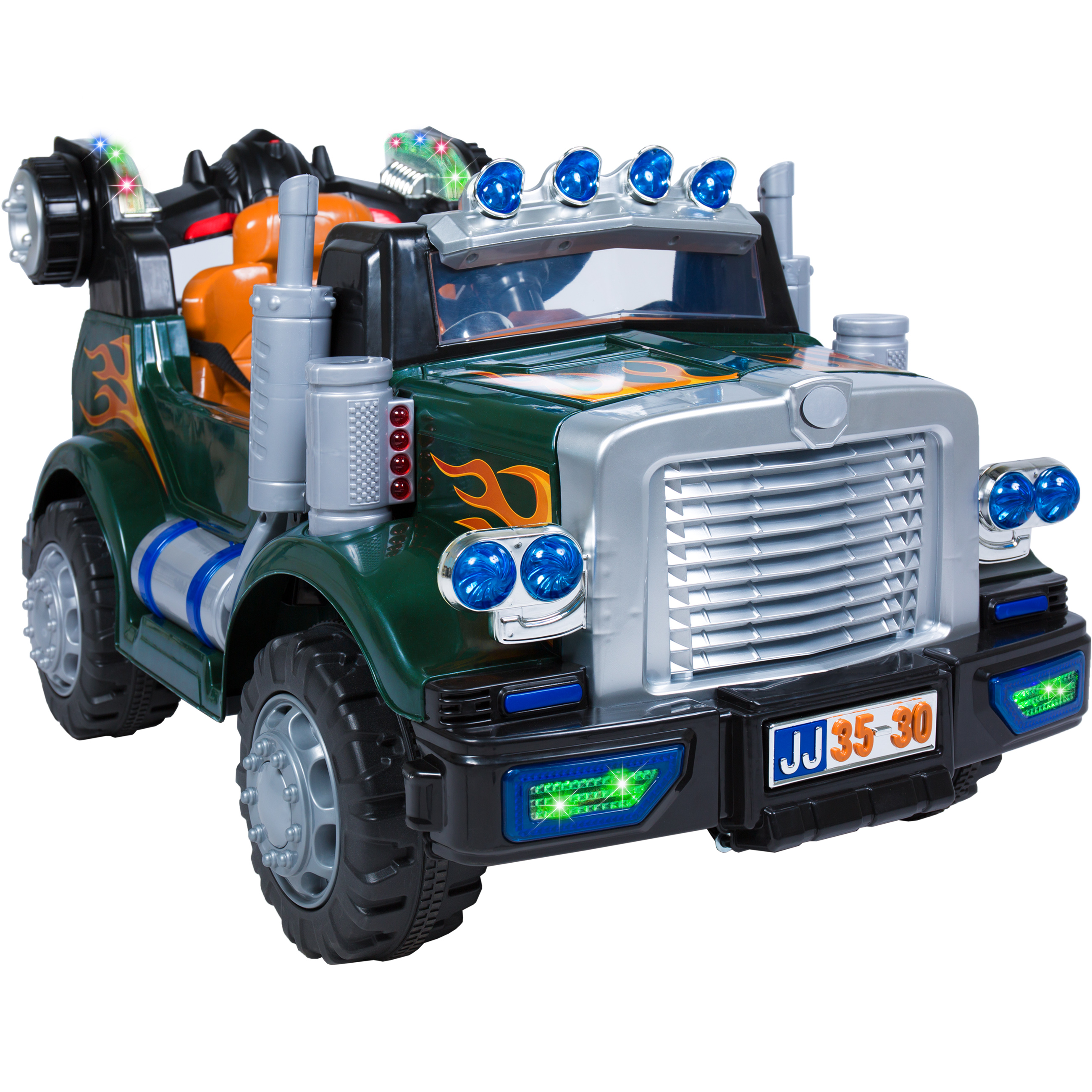 Best Choice Products 12V Ride On Semi Truck Kids Remote Control Big Rig Electric Batery Power w/ Radio & MP3, Lights