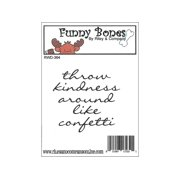 R&C Cling Stamp Throw Kindness