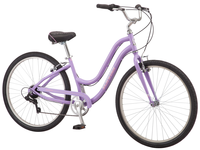 "Schwinn Hybrid Bike Purple 27.5"" Women/'s Cruiser Alloy Frame Sport City Bicycle"