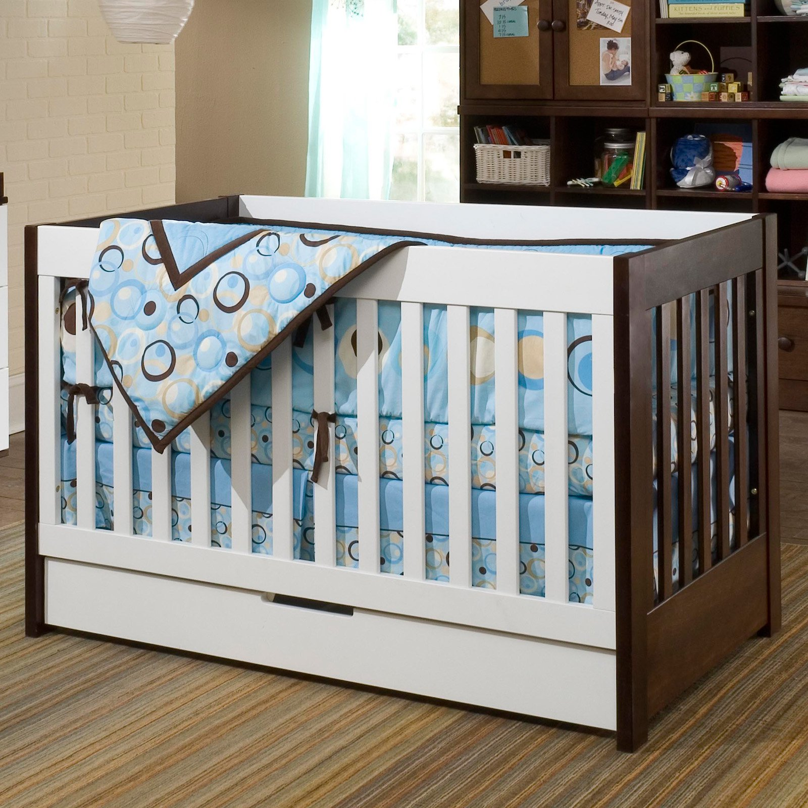 gelato with cribs natural in babyletto conversion crib kit ft washed bed convertible products toddler