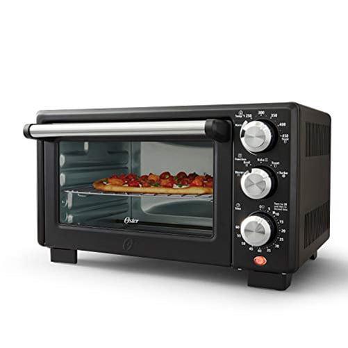 Oster 4 Slice Toaster Oven Matte Black Convection Oven And Countertop Oven Walmart Com Walmart Com