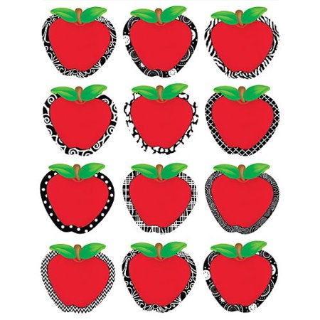 Fancy Apples Accents (5483), 3 each of 10 designs By Teacher Created (Fancy Accents)