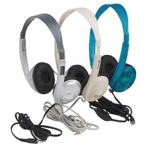 Califone International 3060Av-Bl Multimedia Stereo Headphones - Blueberry Color