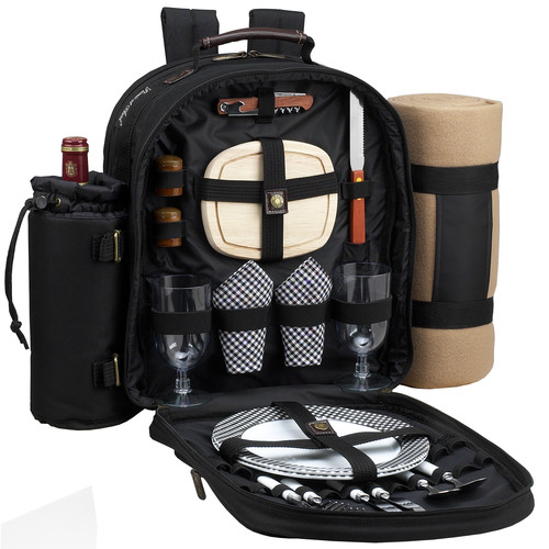 Freeport Park Backpack Cooler with Two Place Settings