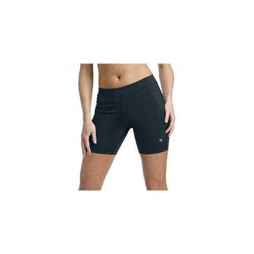 Champion 8263 Double Dry ABsolute Workout Fitted Women Bike Shorts Xsmall, Black by Champion Women's Activewear