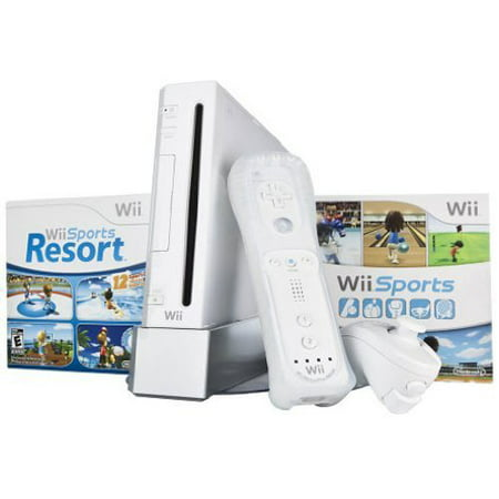 Refurbished Wii Bundle With Wii Sports & Wii Sports Resort White ()