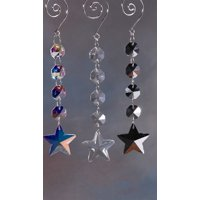 Star Hanging Crystals Chandelier, 6-1/4-inch, Iridescent Clear