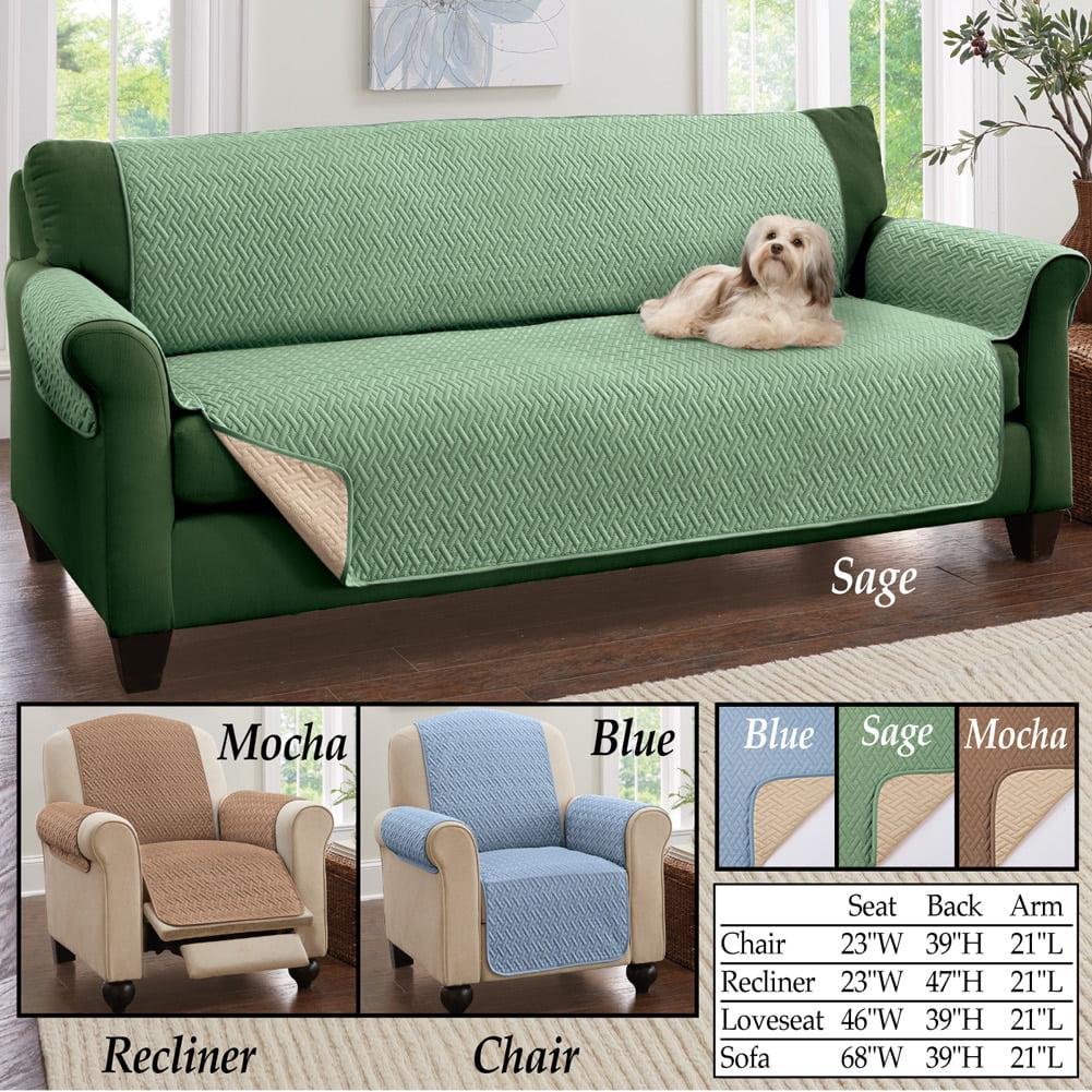 Reversible Basket Weave Furniture Protector Cover, Recliner, Sage    Walmart.com