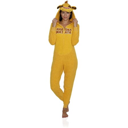 Animal Women's Adult Onesie Pajama Costume Cosplay, Lion King, Size: XL