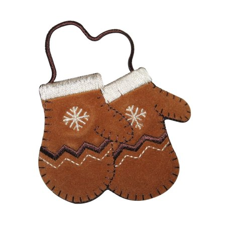 Embroidered Winter Gloves (ID 8443 Kids Winter Mittens Patch Snow Glove Fashion Embroidered IronOn Applique )