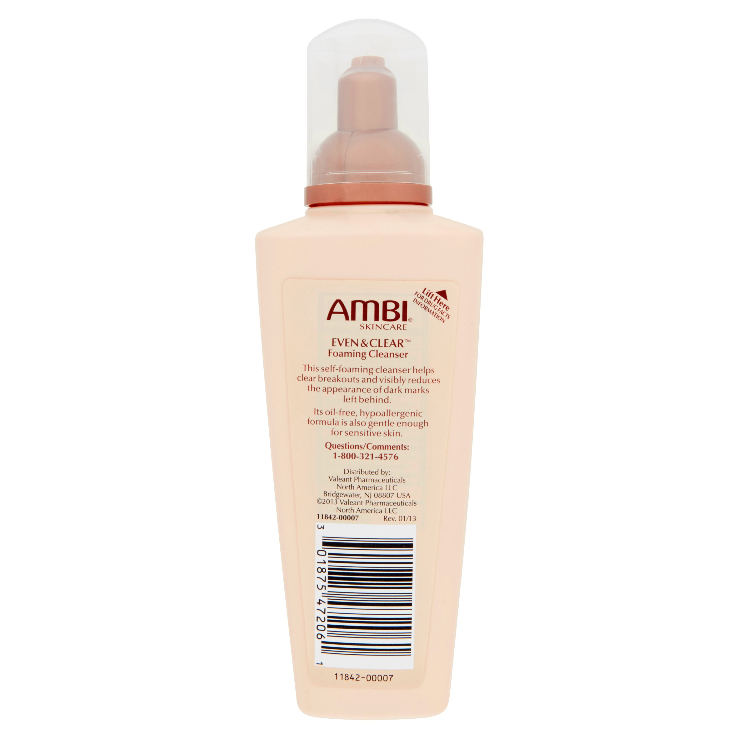 Ambi Even and Clear Foaming Cleanser, 6 Oz - Walmart.com