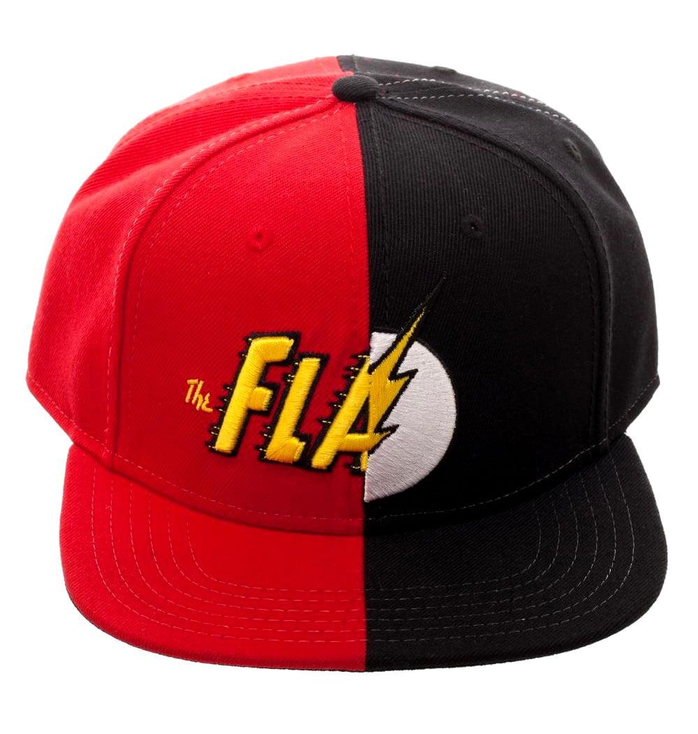 DC Comics The Flash Snapback Split Logo Baseball Hat Adjustable ... 2b40ecc2001