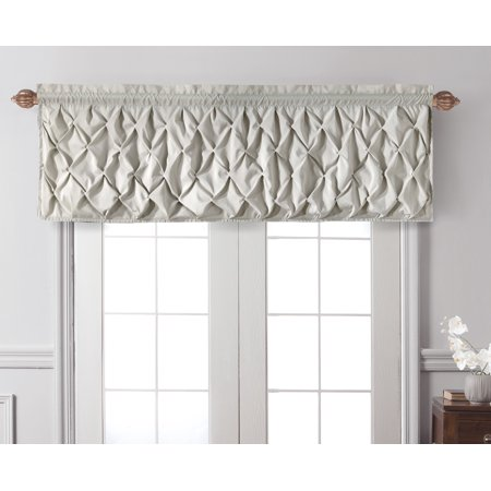 VCNY Home Pintuck Textured Carmen Rod Pocket Window Valance, Multiple Colors Available