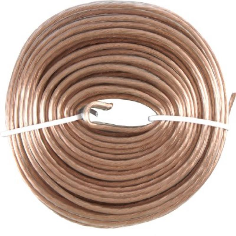 CableWholesale's Speaker Cable, White, Pure Copper, CM / Inwall rated, 14/2 (14 AWG 2 Conductor), 105 Strand / 0.16mm, Spool, 250 foot