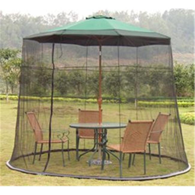 Black Universal Weighted Mosquito Net For 9 Foot Patio