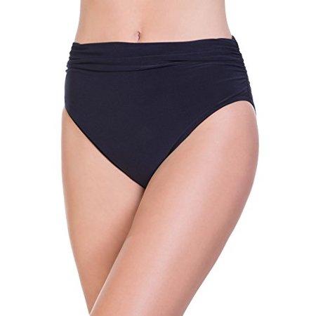 0b3aac6eb907d Magic Suit - Magicsuit Women's Magic Solids Shirred High Waist Bikini Bottom  Black 18 - Walmart.com