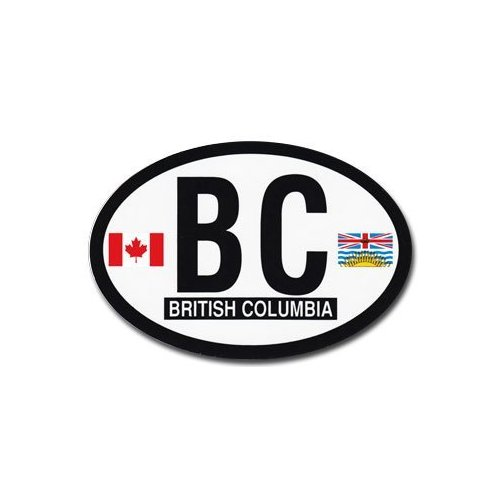 British Columbia - Canadian Province Oval decal