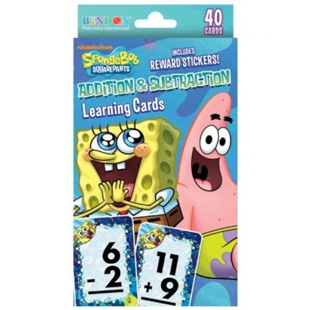 Spongebob Squarepants Addition and Subtraction Reward Cards Party Accessory](Spongebob Accessories)