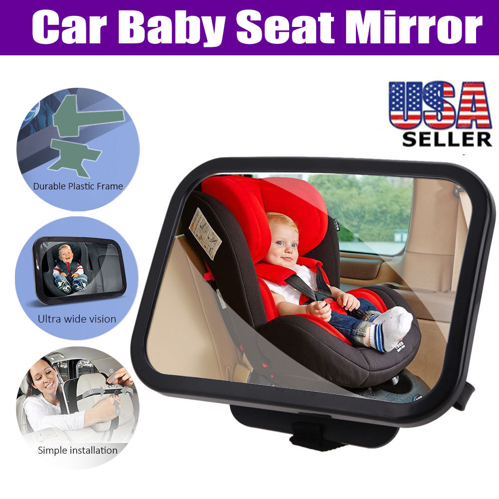 New Adjustable Wide View Rear/Baby/Child Seat Car Safety Mirror Headrest Mount