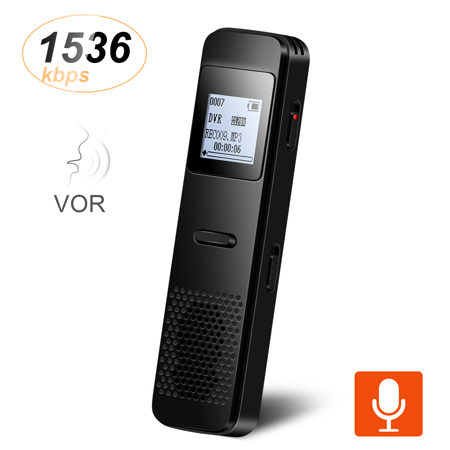 AGPTEK Voice Recorder, Rechargeable 8GB Metal Audio Voice Activated Recorder Dictaphone Stereo,