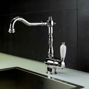 Melissa Kitchen Sink Faucet w Swivel Spout (Chrome & Gold)