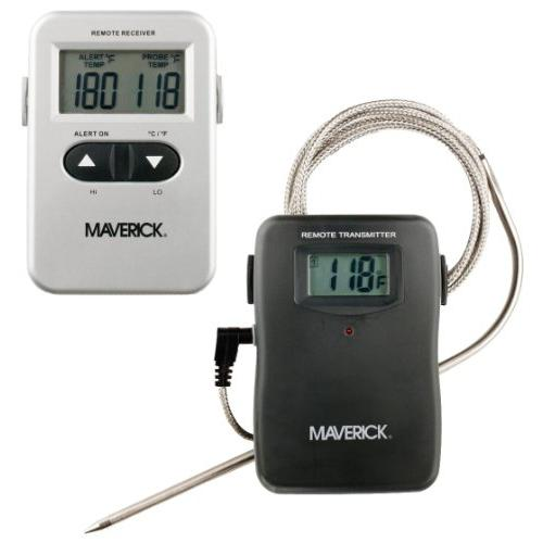 Maverick Remote Wireless Cooking Thermometer - Fahrenheit Reading - Heat Resistant, Programmable, Timer, Beeper, Built-in Stand - For Meat, Oven, Grill (et710s)