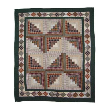 Log Cabin Baby Quilt (Patch Magic Peasant Log Cabin Baby)