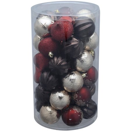 Holiday Time 41-Pack Dark Red/Brown/Champagne Ornaments - Holiday Time 41-Pack Dark Red/Brown/Champagne Ornaments - Walmart.com