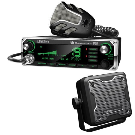 63ee70a8bf73f Uniden 40-Channel Bearcat 880 CB Radio with 7-Color Display Backlighting &  BC15 Accessory CB/Scanner Speaker