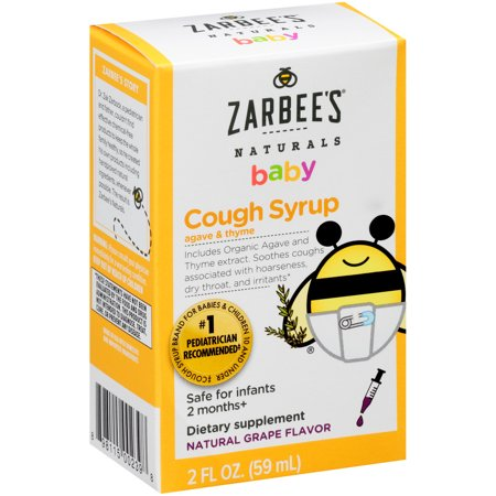 Zarbee's Naturals Baby Cough Syrup with Agave & Thyme , Natural Grape Flavor, 2 Fl. Ounces (1 - Baby Cough Medicine
