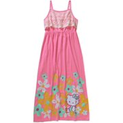 Hk Lace Print Maxi Dress