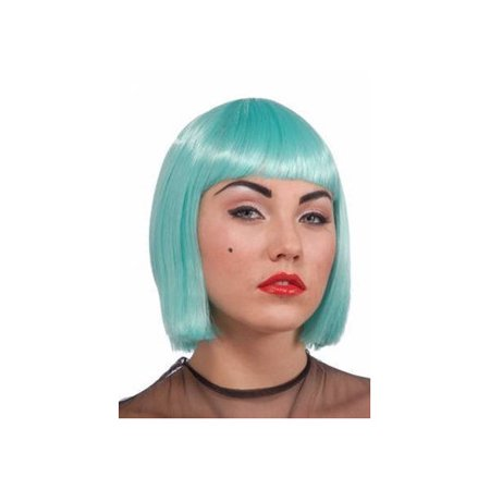 Lady Gaga Turquoise Wig Rubies 52612, One Size - Turquoise Wig