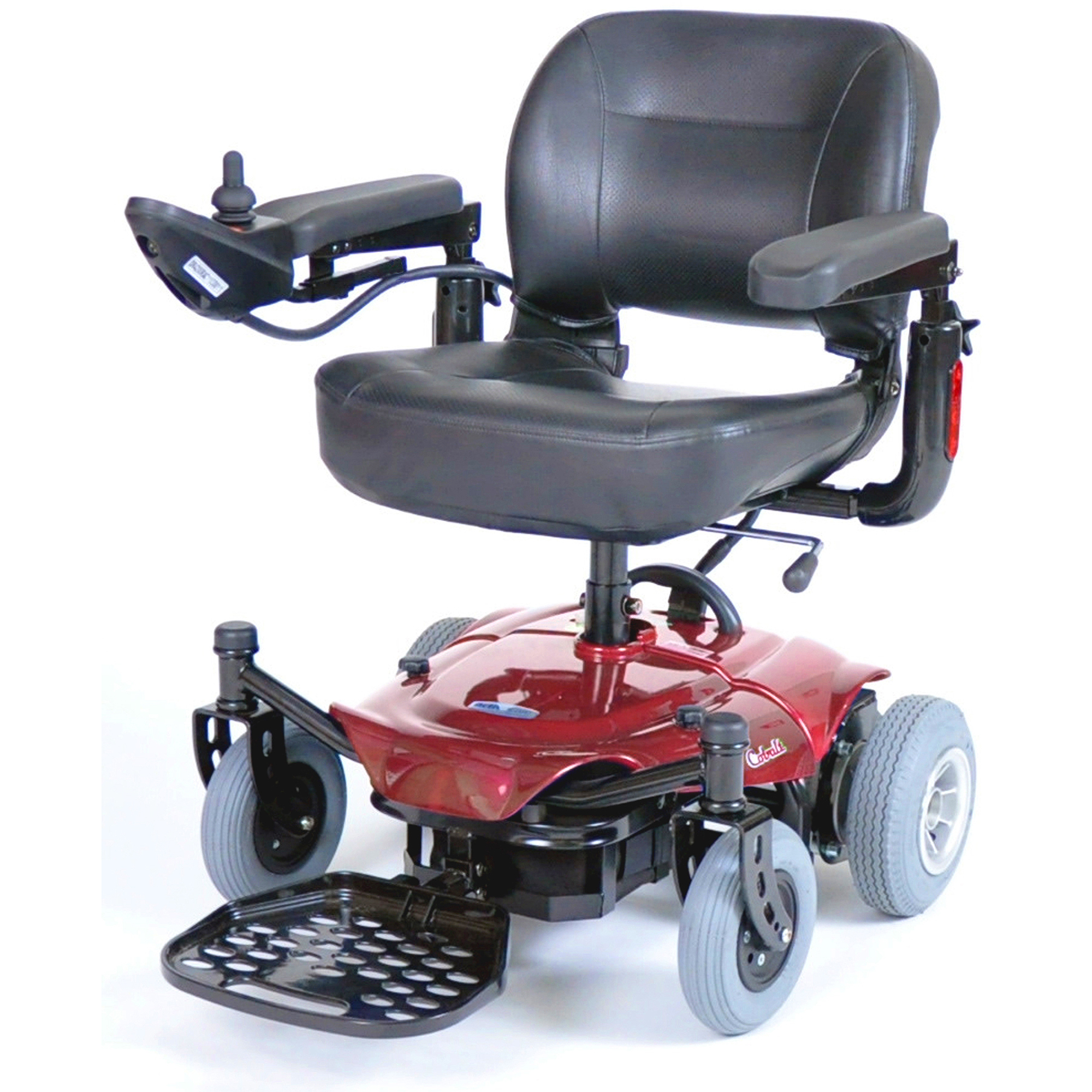 Drive Medical Cobalt Travel Power Wheelchair, Red