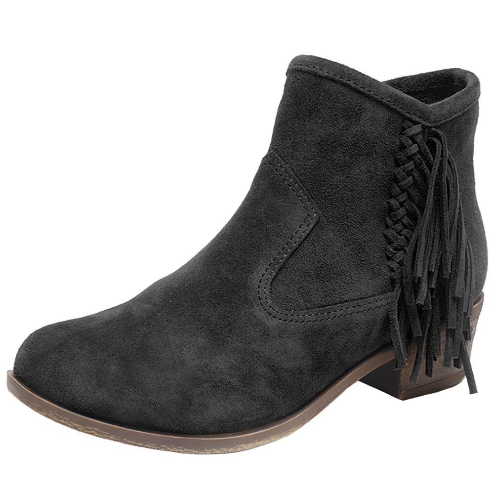 Minnetonka Womens Blake Black Fringe Boots by MINNETONKA