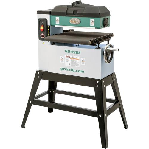 "Grizzly G0458Z 18"" 1-1/2 HP Open-End Drum Sander w/ VS Feed"