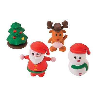 IN-13614152 3D Christmas Character Erasers 24 Piece(s) - 3d Erasers