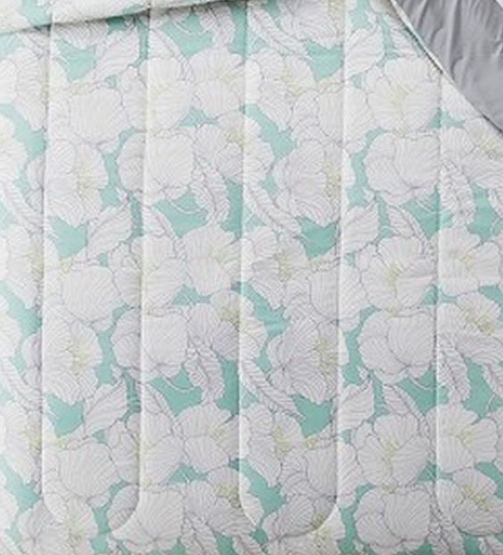 Tropical Floral Twin XL Reversible Comforter Dorm Bed